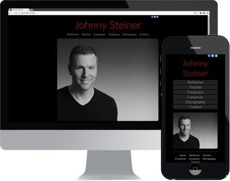 Mockup showing responsive web design